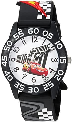 Disney Boy's 'Cars 3 Lightning' Quartz Plastic Casual Watch, Color:Black (Model: WDS000291)